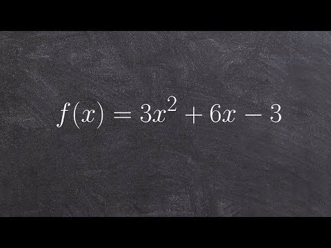Finding the domain range and graphing a quadratic