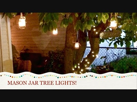 DIY Mason jar tree lights