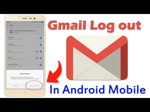 Gmail Log Out In Android Mobile/Redmi Not 3/mi Mobile Or Any Mobile