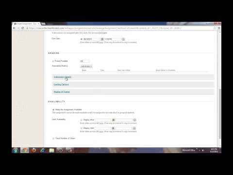 How to Create an Assignment in Blackboard Learn