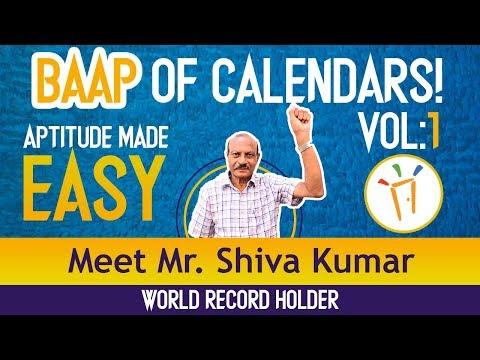 Aptitude Made Easy - Crack any Calendar problem by Mr. Shiva Kumar, Volume-1