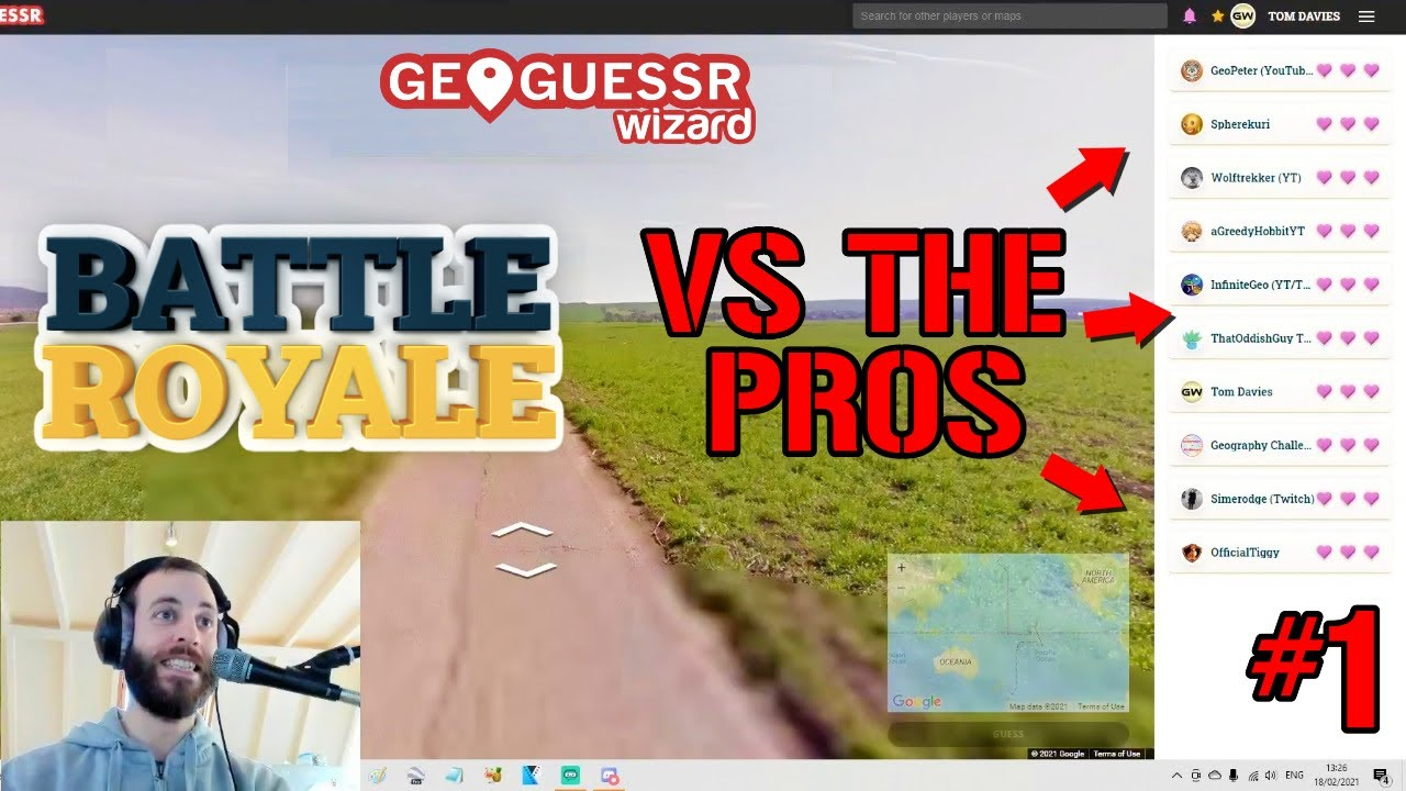 I played Battle Royale against 9 highly skilled Geoguessr players. It didn't go well (Part 1)