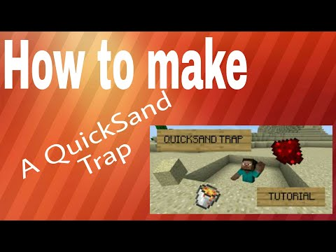 Mcpe: How to make a QuickSand Trap