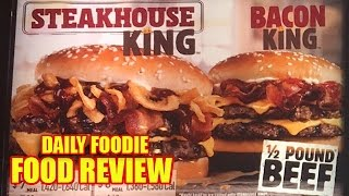 BK Steakhouse King Review - Burger King 1/2 Pound Beef