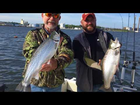 Lake Ontario spring brown trout fishing out of Oswego