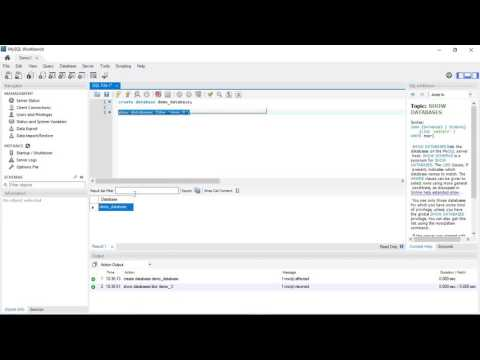 #2 - Create and Drop Database in Mysql WorkBench