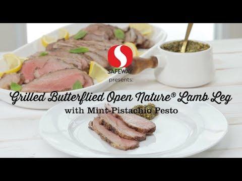 Grilled Butterflied Lamb Leg with Mint-Pistachio Pesto | 12 Roasts | Safeway