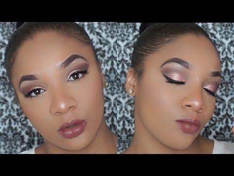 Makeup Tutorial| Pink Metallic Eyes With Mauve Lip