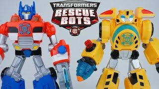 TRANSFORMERS RESCUE BOTS HUGE ELECTRONIC OPTIMUS PRIME BUMBLEBEE HIGH TIDE BLADES LIGHTS AND SOUNDS