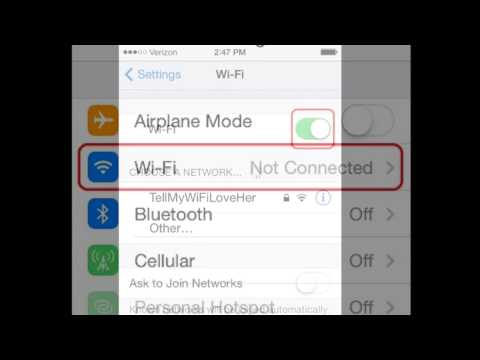 How to Connect to a Secured or Unsecured Wireless Network or Wi-Fi Connection on your iPhone