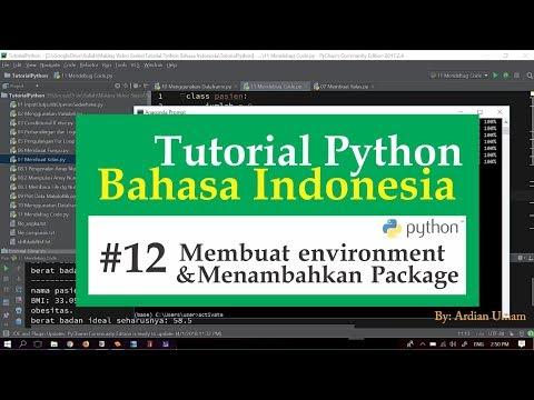 12 Tutorial Python Bahasa Indonesia - Menambahkan Environment dan Package