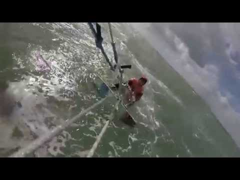 Beginner Kitesurfing (Backroll Fails)