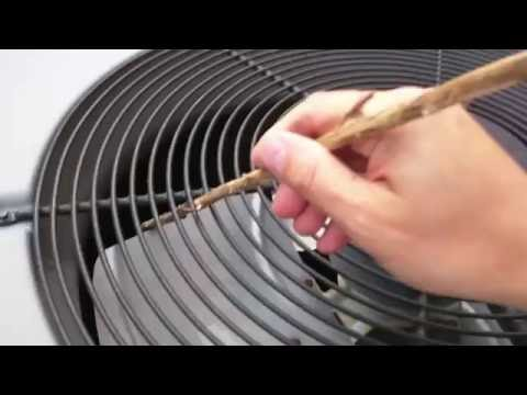 How to reset or fix your air conditioner yourself. Fan won't spin as the capacitor is broken.