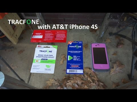 AT&T iPhone 4S on Tracfone 90 day cellphone plan Sim LTE $13 per Month