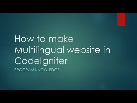 How to make Multilingual website in CodeIgniter 3