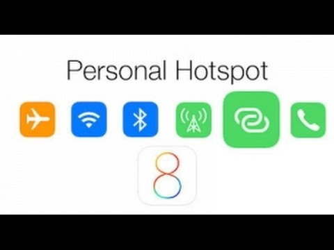 Setting up the personal hotspot on an Apple iPad (wifi + cellular ) or iPhone + Jio