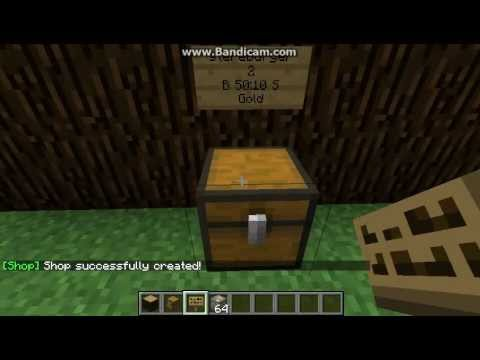 minecraft tutorial how to use iconomy and chestshop