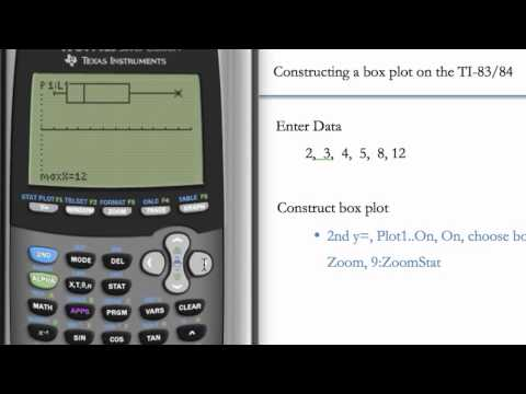 Boxplot and Five-Number Summary (TI-83 & TI-84)