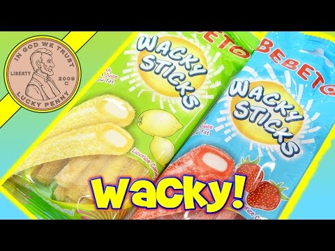Bebeto Wacky Sticks Lemon & Strawberry Licorice Candy