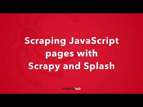 Scraping JavaScript pages with Scrapy and Splash