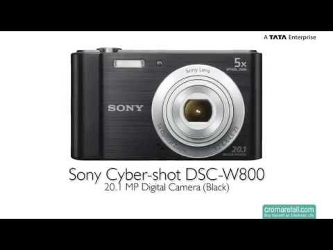 Sony Cyber-shot DSC-W800 20.1 MP Digital Camera (Black)