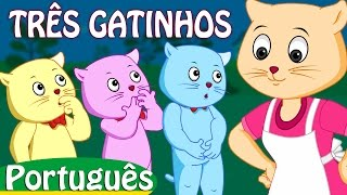 três gatinhos | rimas de berçário coleção | canções infantis em português | ChuChu TV