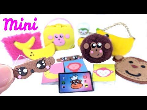 10 DIY Monkey Miniatures - Lamp, Pillow, Lunchpail, Purse, & More