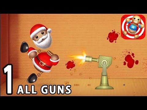 Kick the Buddy - Gameplay Walkthrough #1: Firearms (All Guns) | Buddy Santa Claus