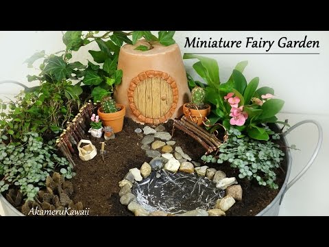 Cute Miniature Fairy garden - Tutorial