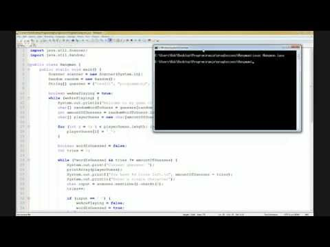 Beginner Java: Lesson 3 [Building a Hangman game]