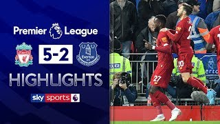 Liverpool score FIVE past Everton in Merseyside drubbing | Liverpool 5-2 Everton | EPL Highlights