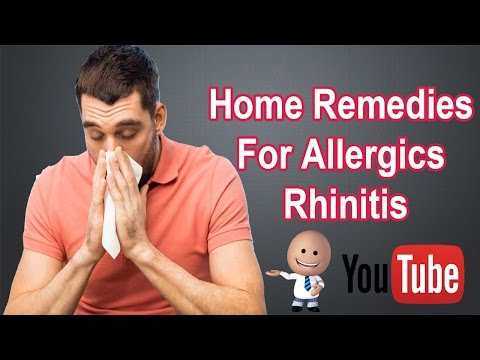 Home Remedies For Allergic Rhinitis | Rhinitis Treatment [Home Remedies For Allergic Rhinitis]