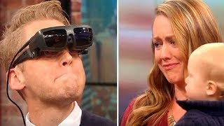 Blind Man Sees Wife And Son For THE FIRST TIME. His Reaction Makes Everyone Cry