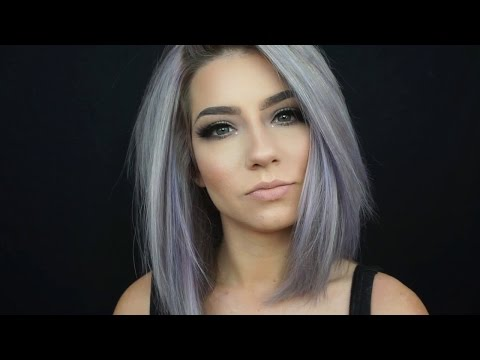 COLOR YOUR HAIR AT HOME pastel Periwinkle with Krystal Clear Makeup  | ARCTIC FOX HAIR COLOR
