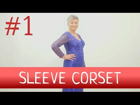 How to make corset with sleeve? Part 1. Sleeve corset.