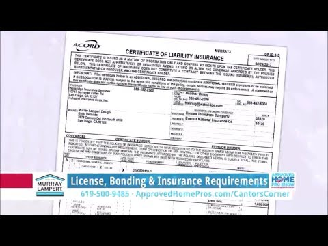 Cantor's Corner: License, Bonding & Insurance Requirements