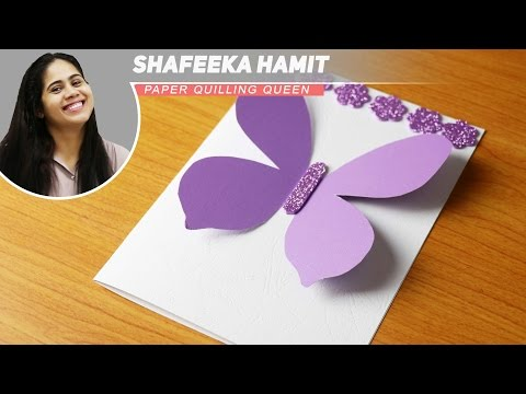 How to Make Greeting Cards - Big Butterfly Birthday Cards - Mother's Day Cards - Steo by Step DIY