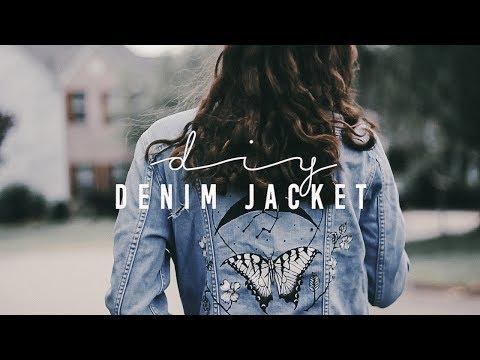 (diy) painted denim jacket