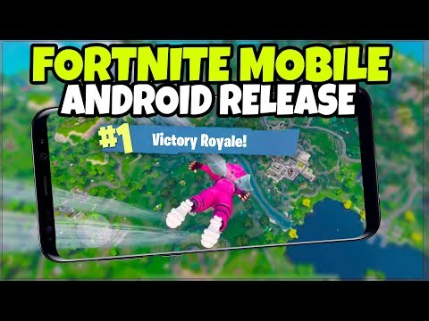 Fortnite MOBILE on ANDROID RELEASE DATE + Old Phones (Fortnite Mobile Gameplay)