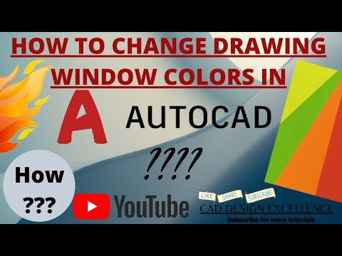 HOW TO CHANGE DRAWING WINDOW COLORS