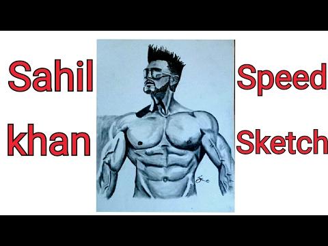 Sahil Khan sketch | speed sketch | body sketch