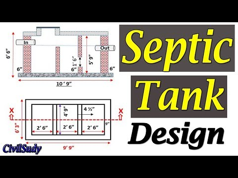 Septic Tank Design - Septic Tank Construction - How To Design A Septic Tank In Urdu/Hindi