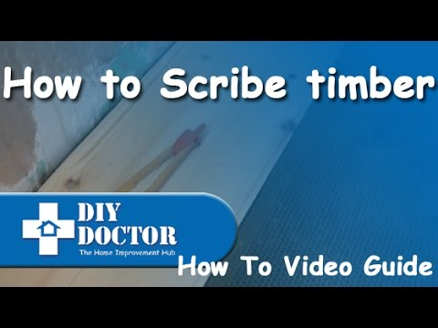 How to scribe timber against uneven surfaces
