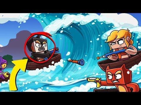 Minecraft - NERF WAR: Tsunami Wave Challenge! (Nerf Gun Mod)