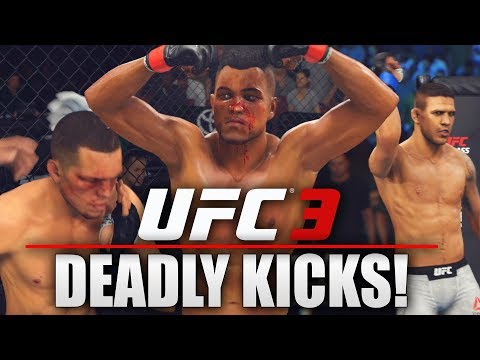 EA UFC 3 Career Mode: WTF! Nate Diaz Hands Are Quicker Than Lightning!
