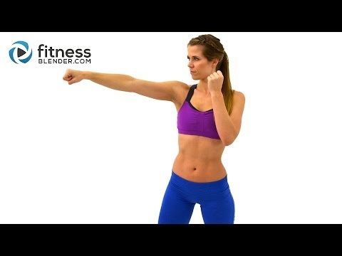 Cardio Kickboxing Workout to Burn Fat at Home - 25 Minute Kickboxing Cardio Interval Workout