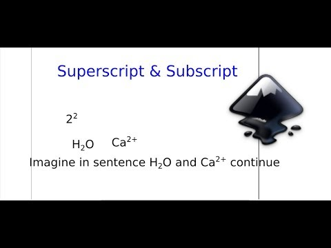 Inkscape: how to write subscripts, superscripts and chemical symbols