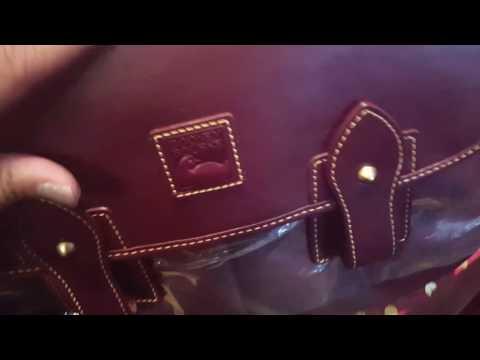 Dooney & Bourke- Florentine Saddle Bag in Crimson & WIMB