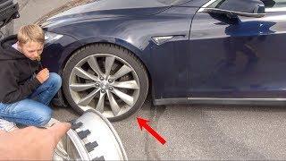 Download What's inside a Bulletproof Tesla Tire? Video