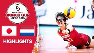 JAPAN vs. NETHERLANDS - Highlights | Women's Volleyball World Cup 2019